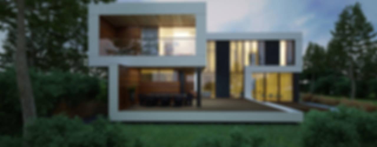 Maisons de style  par ALEXANDER ZHIDKOV ARCHITECT, Minimaliste