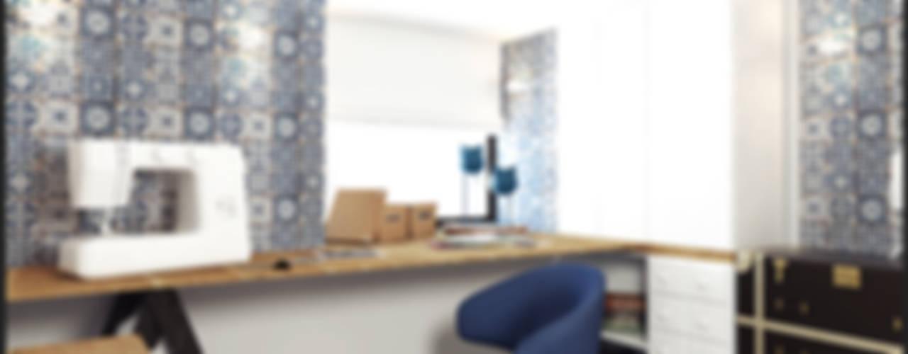 LOFT APARTMENT МОСКВА: Рабочие кабинеты в . Автор – IK-architects