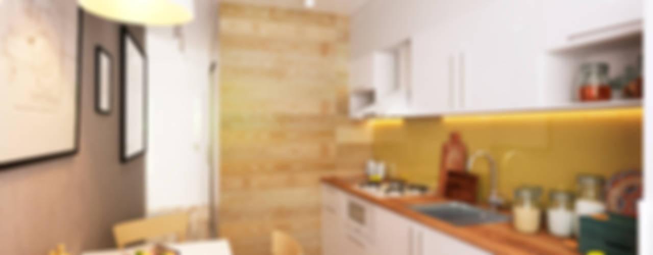 Cocinas de estilo minimalista de IK-architects Minimalista