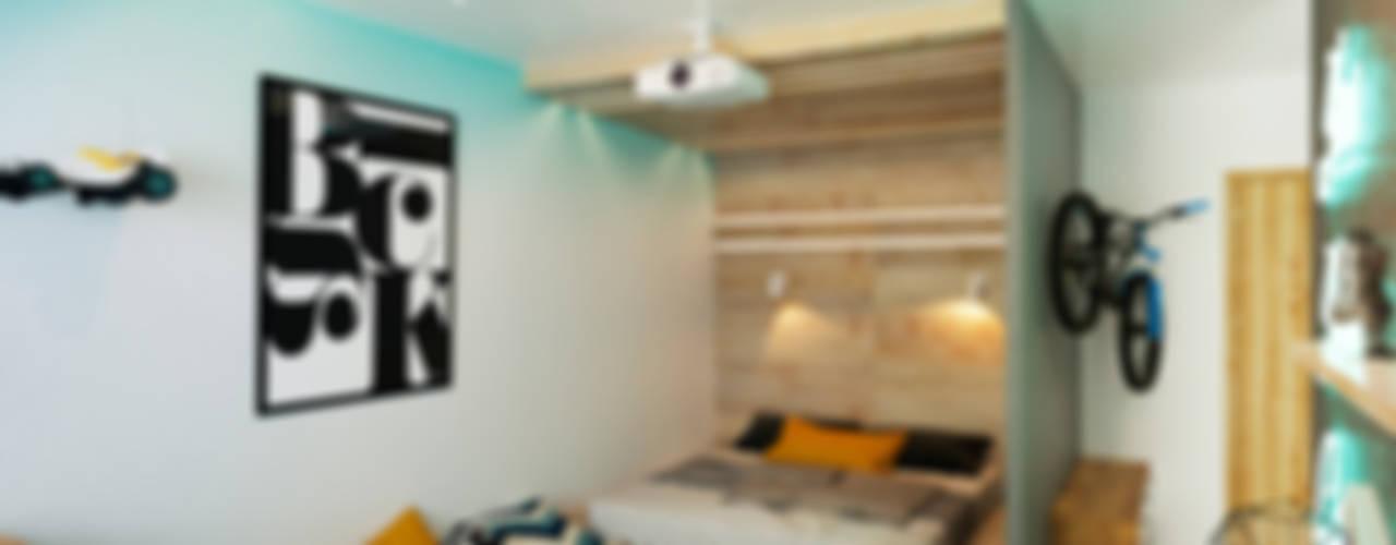 Dormitorios de estilo  por IK-architects, Minimalista