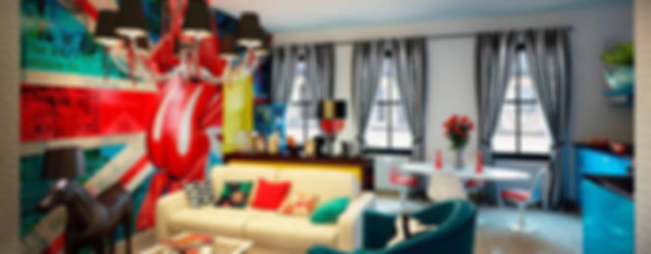Квартира в стиле поп-арт: Гостиная в . Автор – Студия дизайна интерьера Маши Марченко,