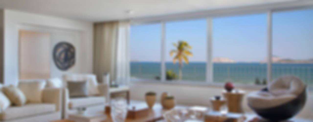 Residência Vieira Souto Salas de estar modernas por Bezamat Arquitetura Moderno
