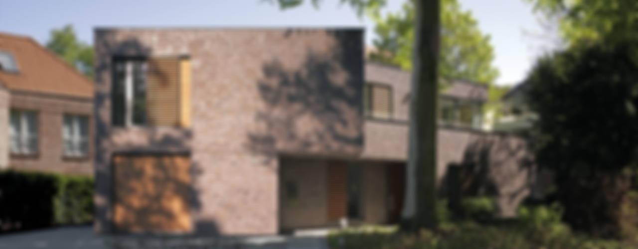 Im Schatten des Baumes - Stadthaus in Hamburg-Winterhude Moderne Häuser von KITZMANN ARCHITEKTEN Modern