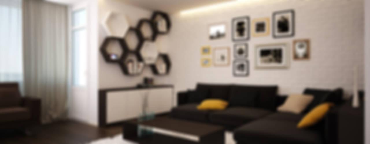 Salas de estar minimalistas por Polovets design studio Minimalista