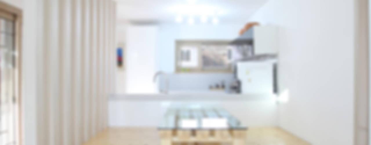 3대가 사는 집 용인 양지주택 모던스타일 다이닝 룸 by 주택설계전문 디자인그룹 홈스타일토토 모던