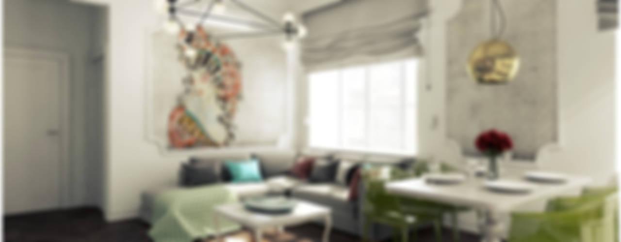 Mieszkanie z charakterem w IX-wiecznej kamienicy: styl , w kategorii Salon zaprojektowany przez 2k architektura,Eklektyczny