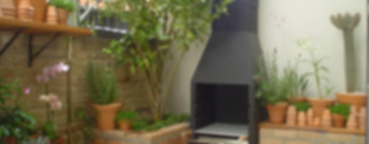 庭院 by Línea Paisagismo.Claudia Muñoz