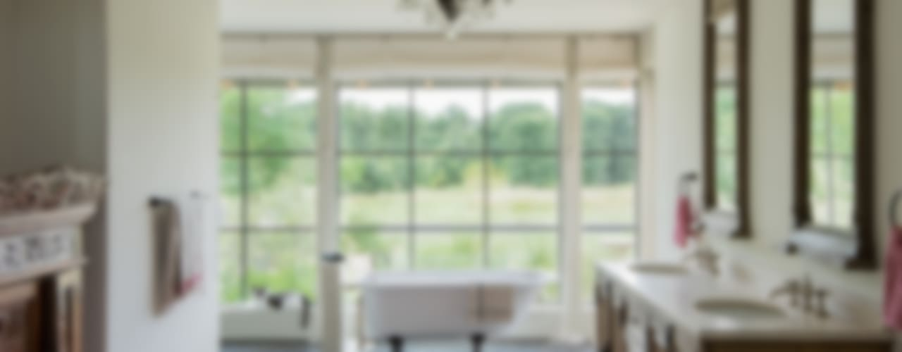 River Ranch Residence Hugh Jefferson Randolph Architects カントリースタイルの お風呂・バスルーム