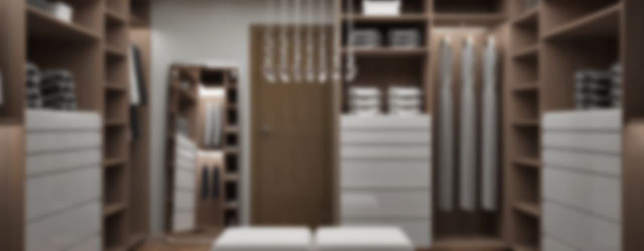Recamara y Vestidor Moderno Vestidores modernos de Citlali Villarreal Interiorismo & Diseño Moderno