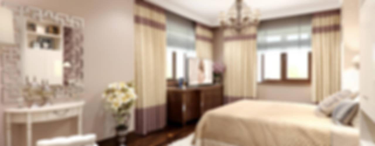 Спальня в брусничных тонах Спальня в классическом стиле от K-Group Классический