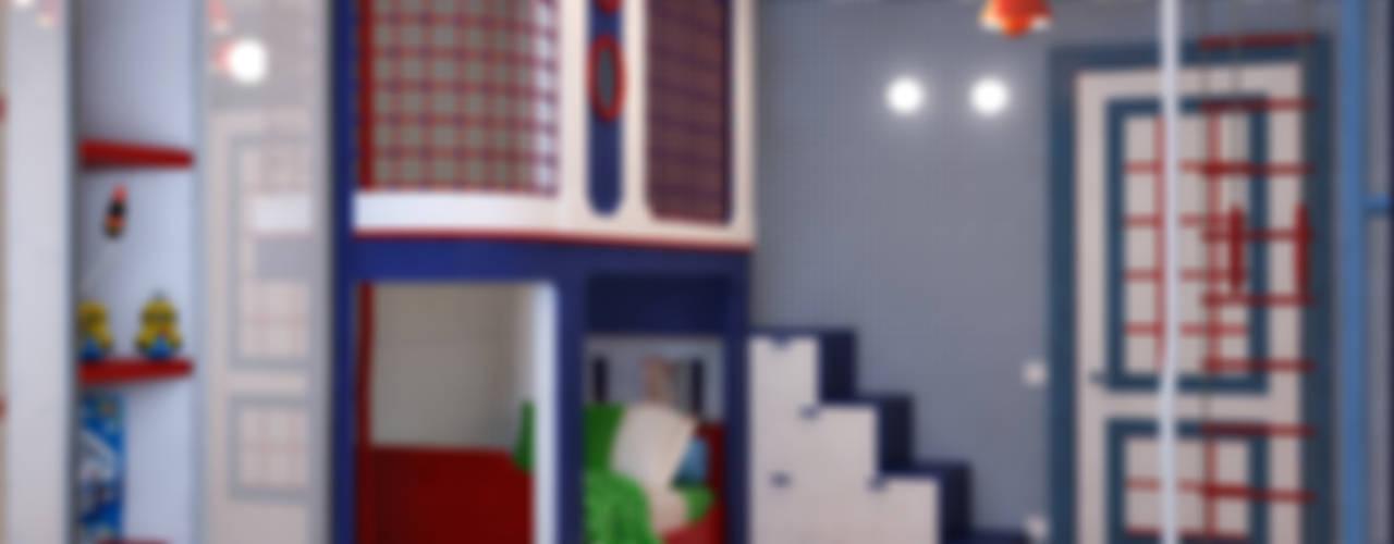 Спортивный интерьер детской комнаты Детская комнатa в стиле минимализм от Студия дизайна Interior Design IDEAS Минимализм