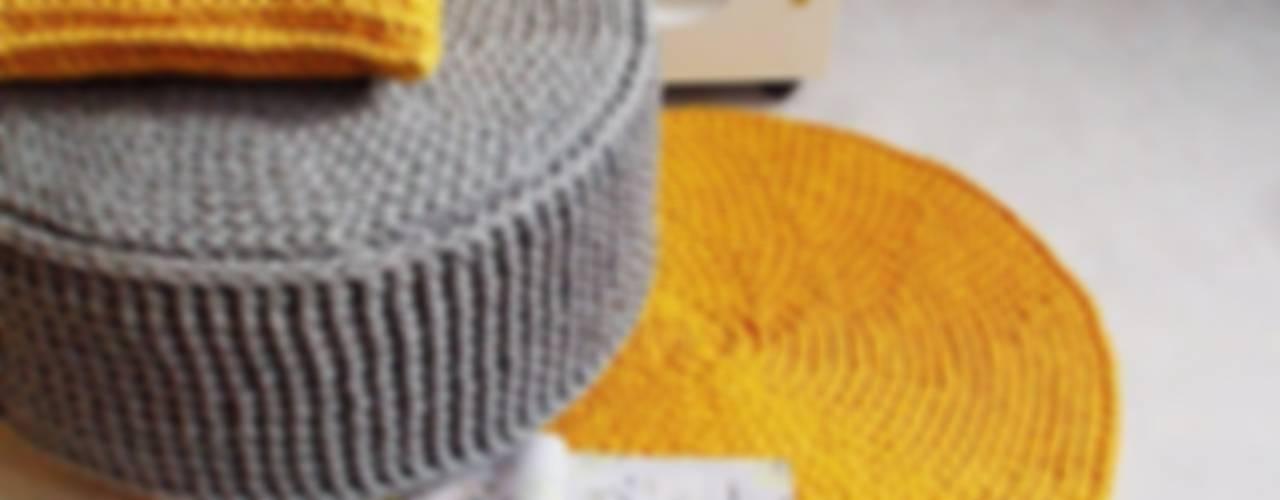 Handmade crochet rug, crochet carpet, round rug, knitted carpet, knitted rug, model COPENHAGEN Oleh RENATA NEKRASZ art & design Skandinavia