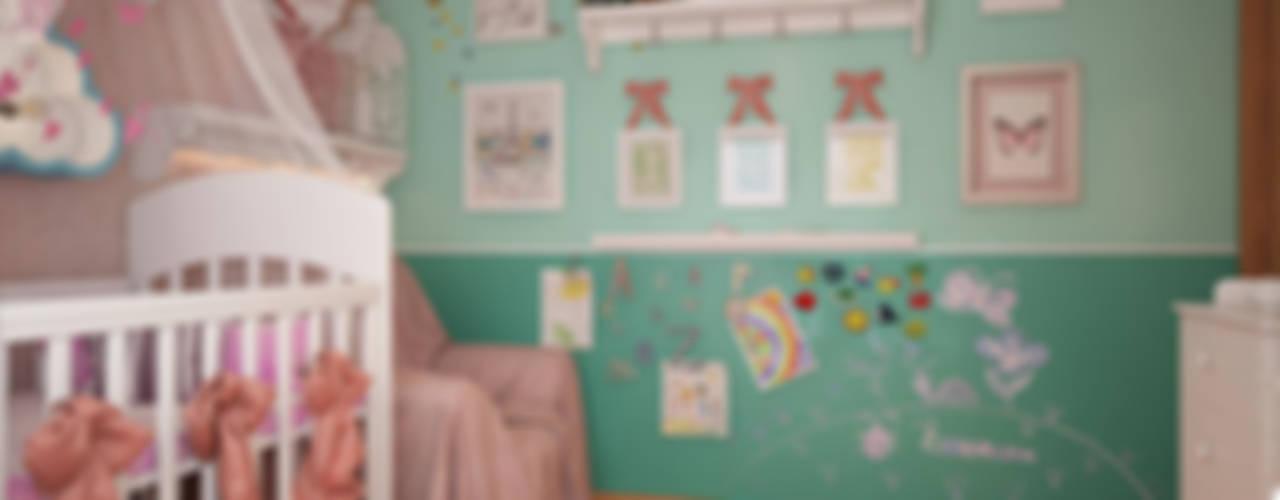Детская с бабочками Детские комната в эклектичном стиле от «Студия 3.14» Эклектичный