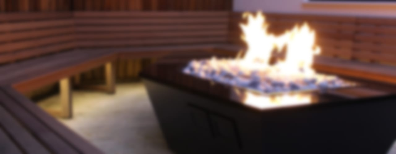Stealth Boat Fire Table - Southampton por Rivelin Moderno