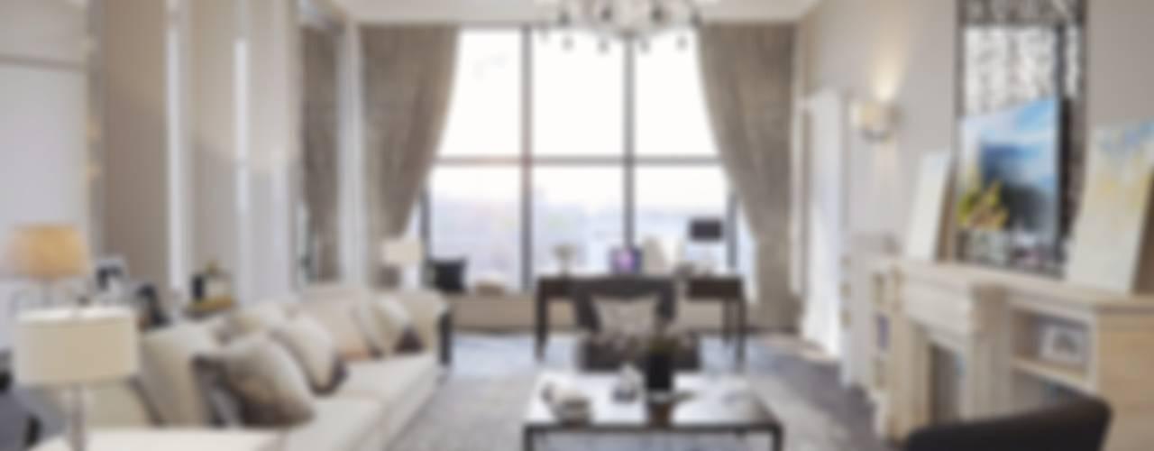 Текущий проект: дизайн квартиры в пентхаусе Гостиная в стиле модерн от Дизайн студия Ольги Кондратовой Модерн