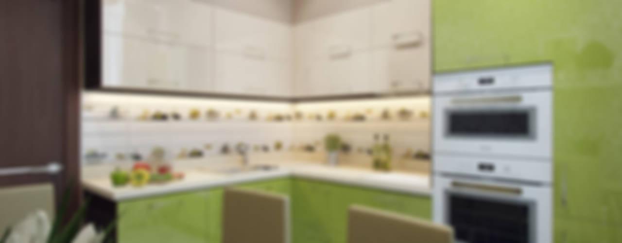 """Квартира в ЖК """"Вива"""": Кухни в . Автор – Студия дизайна интерьера Маши Марченко"""