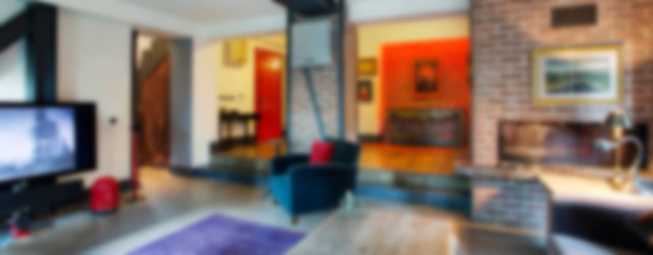 Levent Villa Endüstriyel Oturma Odası Udesign Architecture Endüstriyel
