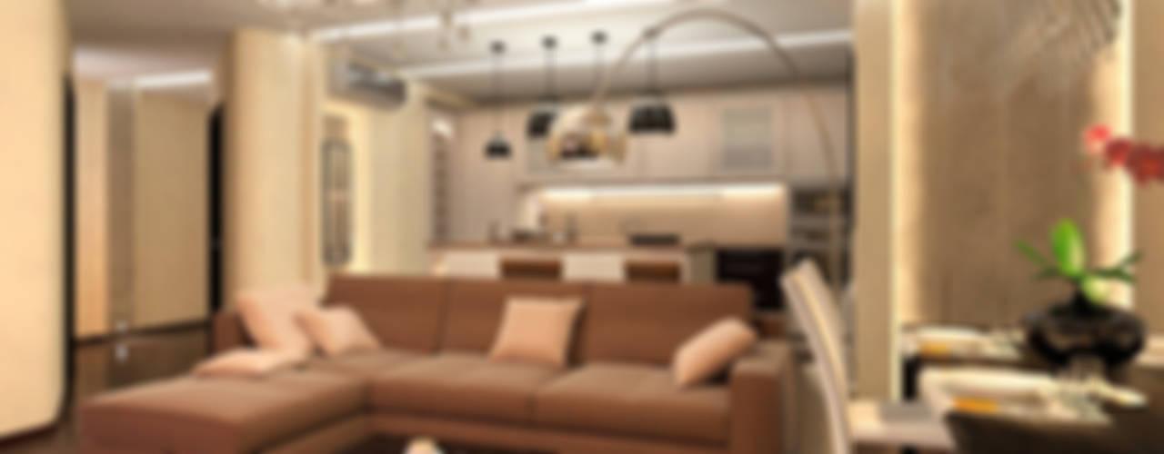 4-х комнатная квартира на ул. Шипиловская в Москве: Гостиная в . Автор – Aledoconcept