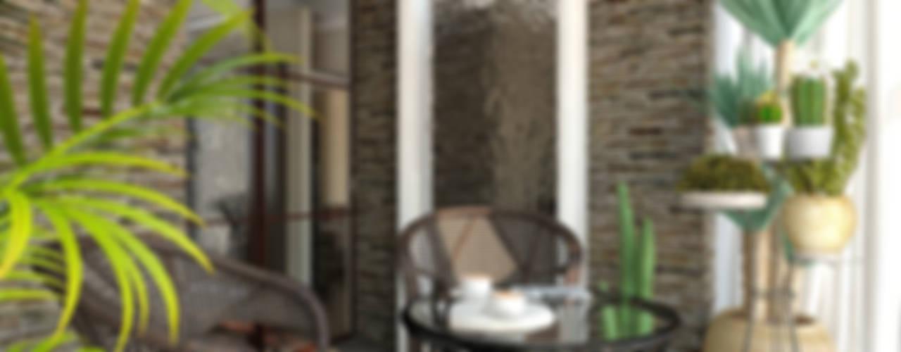 4-х комнатная квартира на ул. Шипиловская в Москве Зимний сад в эклектичном стиле от Aledoconcept Эклектичный