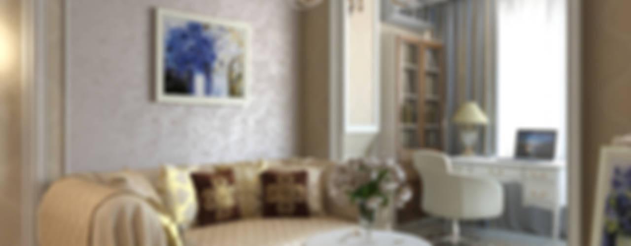 Однокомнатная квартира на ул. Удальцова в Москве Гостиная в классическом стиле от Aledoconcept Классический