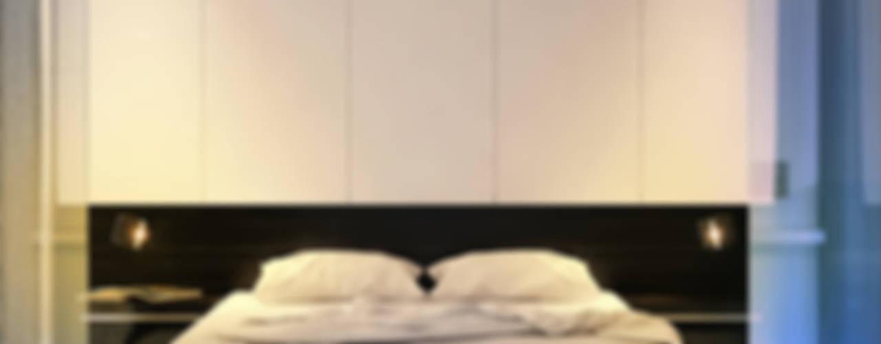 Квартира в ЖК Антарес. Екатеринбург. Dmitriy Khanin Спальня в стиле минимализм