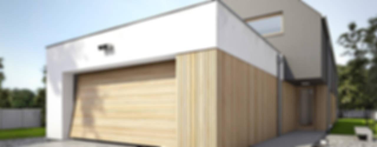 Dom: styl , w kategorii Garaż zaprojektowany przez Konrad Idaszewski Architekt,Nowoczesny