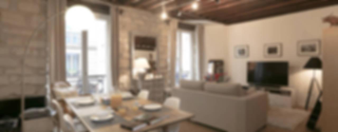 Salas modernas de Xavier Lemoine Architecture d'Intérieur Moderno