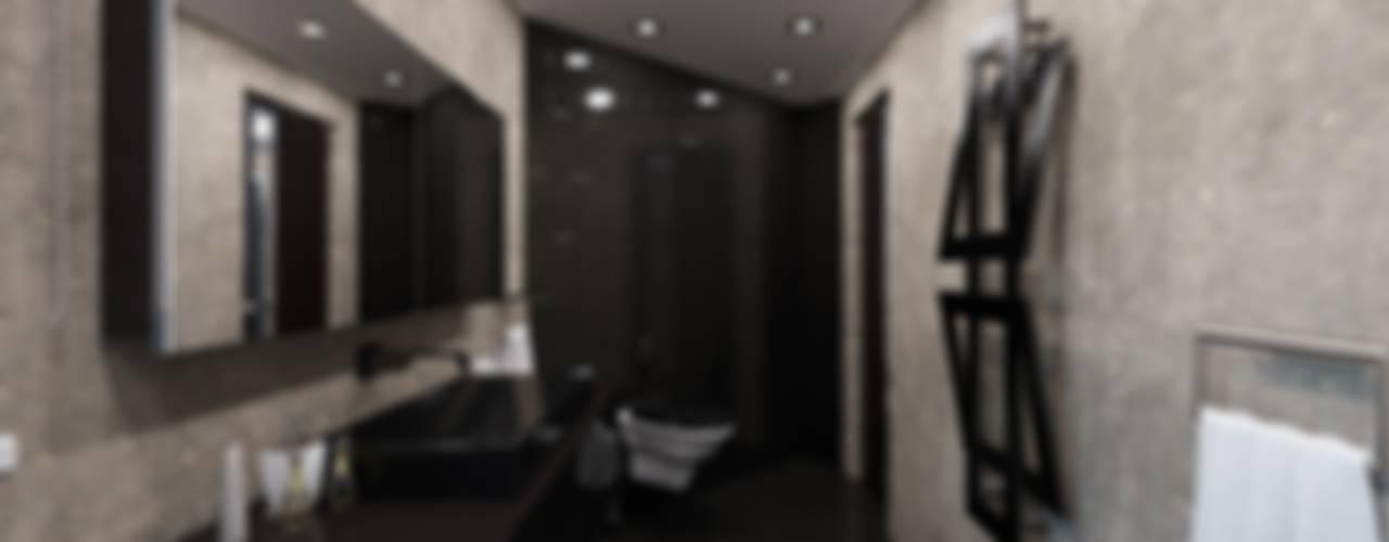 Современный монохром в таунхаусе Ванная комната в стиле модерн от Константин Паевский-PAEVSKIYDESIGN Модерн