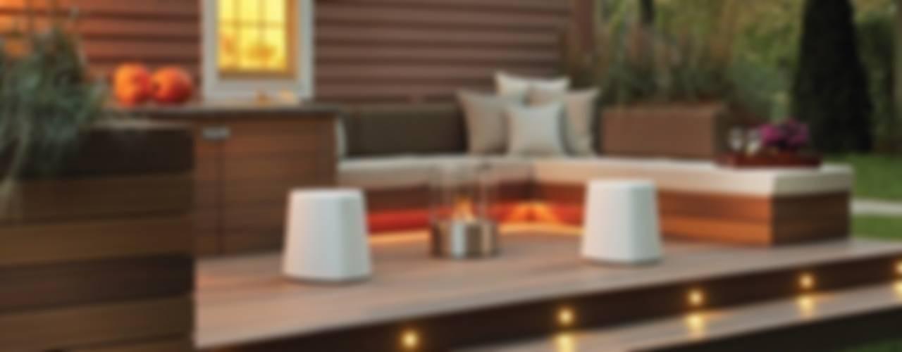 Balcon, Veranda & Terrasse modernes par ilumia.pl Moderne