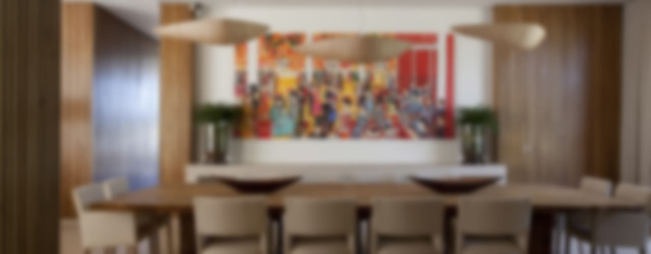 Residência Quinta da Baronesa Salas de jantar modernas por Débora Aguiar Moderno