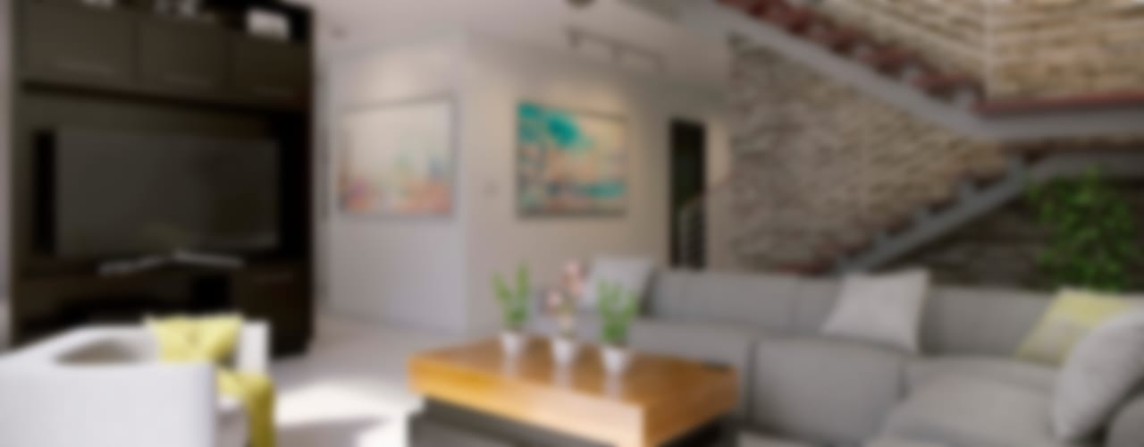 E2 House Livings de estilo minimalista de arQing Minimalista