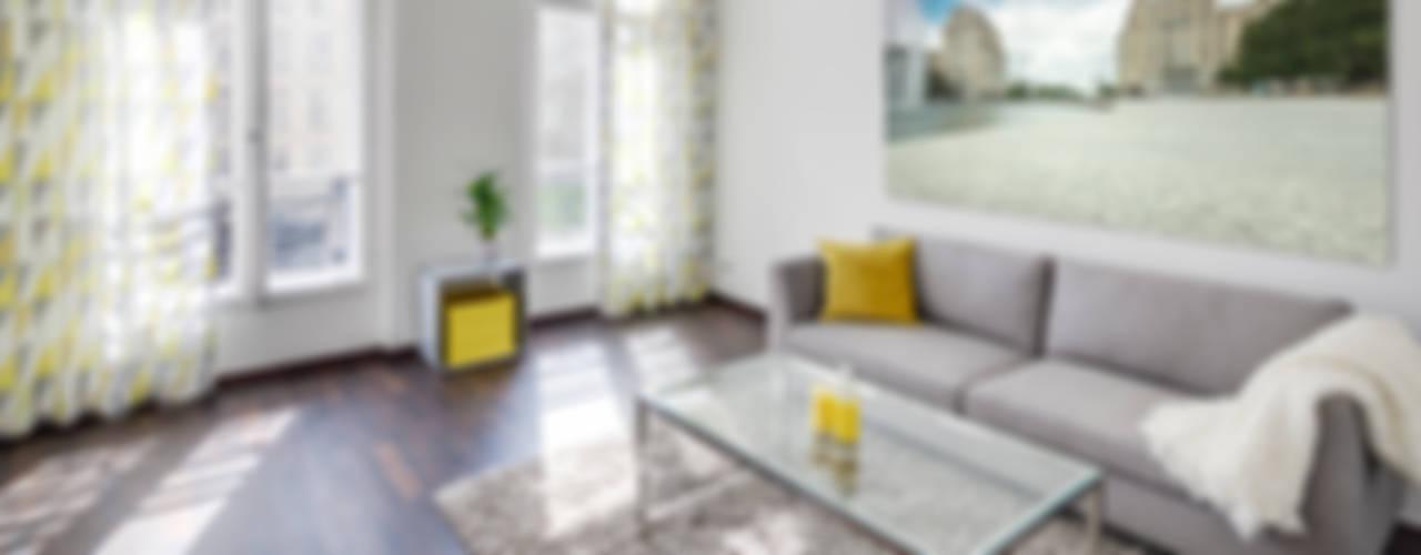 現代浴室設計點子、靈感&圖片 根據 16elements GmbH 現代風