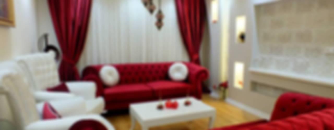 Salas / recibidores de estilo  por Dİ-AR İÇ MİMARLIK,
