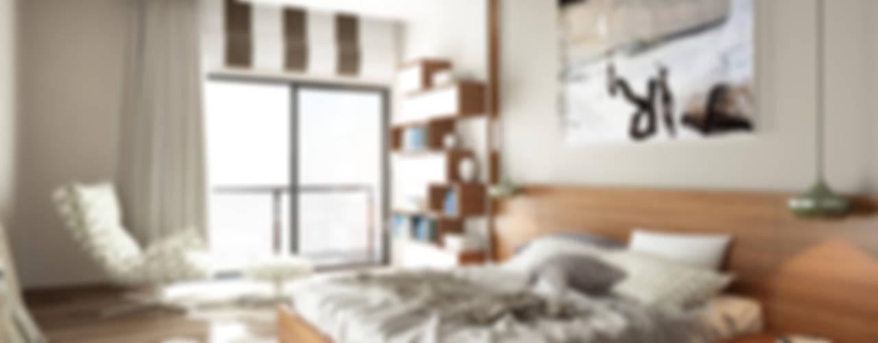 ROAS ARCHITECTURE 3D DESIGN – The Bedroom View1: modern tarz Yatak Odası