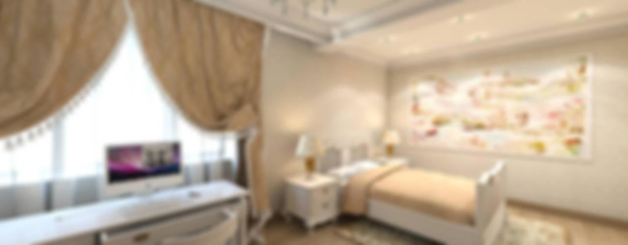 Дизайн проект интерьера трехкомнатной квартиры. Резиденция Čertovka, Карловы Вары, Чехия.: Детские комнаты в . Автор – ISDesign group s.r.o.,