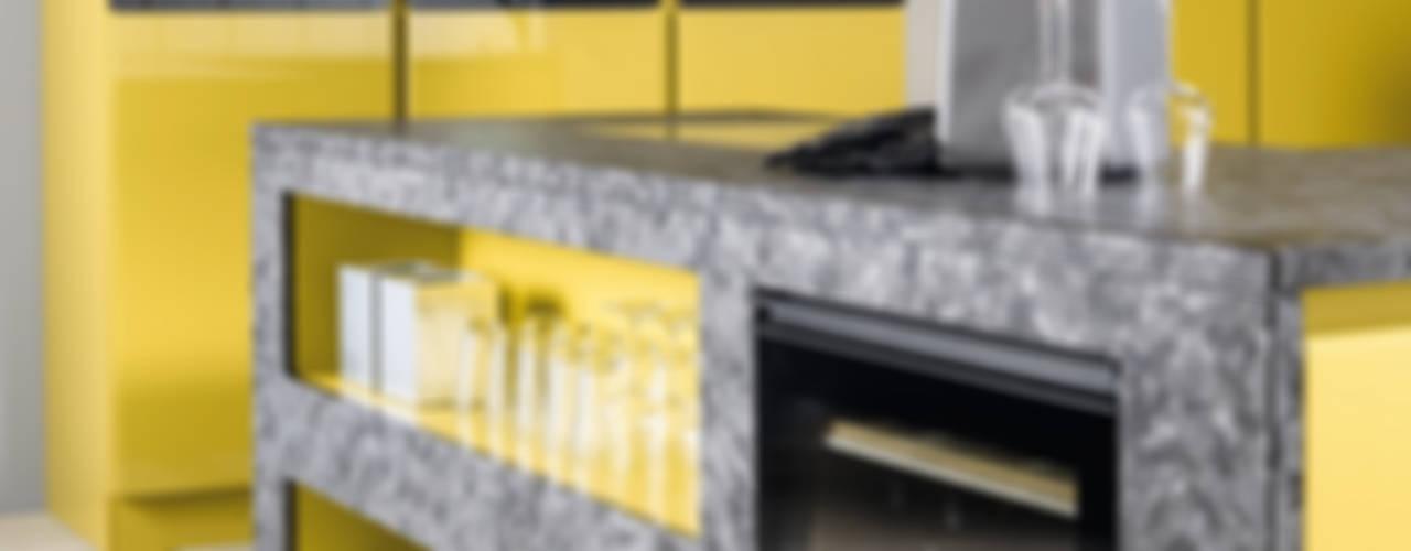 cuisine jaune:  de style  par CUISINE ESSENTIEL, Moderne