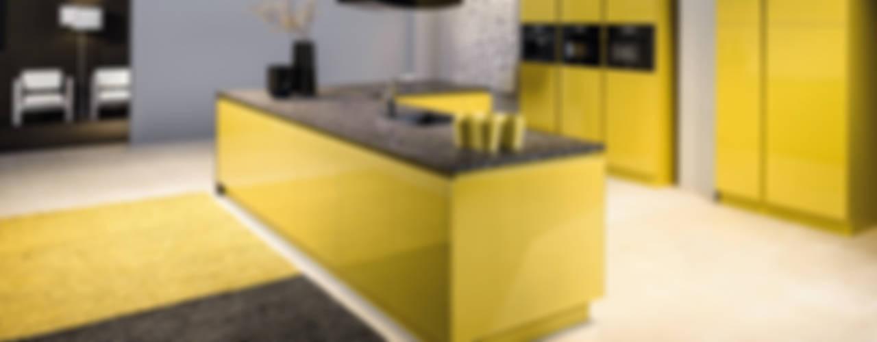 cuisine jaune par CUISINE ESSENTIEL Moderne