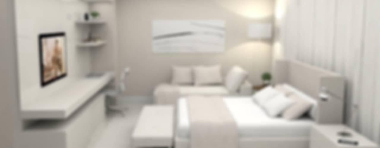 Apartamento Gutierrez - Belo Horizonte / MG Quartos minimalistas por Ana Paula Carneiro Arquitetura e Interiores Minimalista