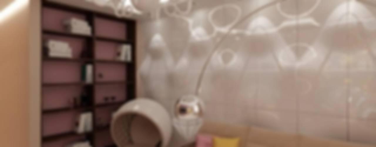 Дизайн интерьера квартиры на Большой Якиманке Гостиная в стиле минимализм от Студия дизайна интерьера Руслана и Марии Грин Минимализм