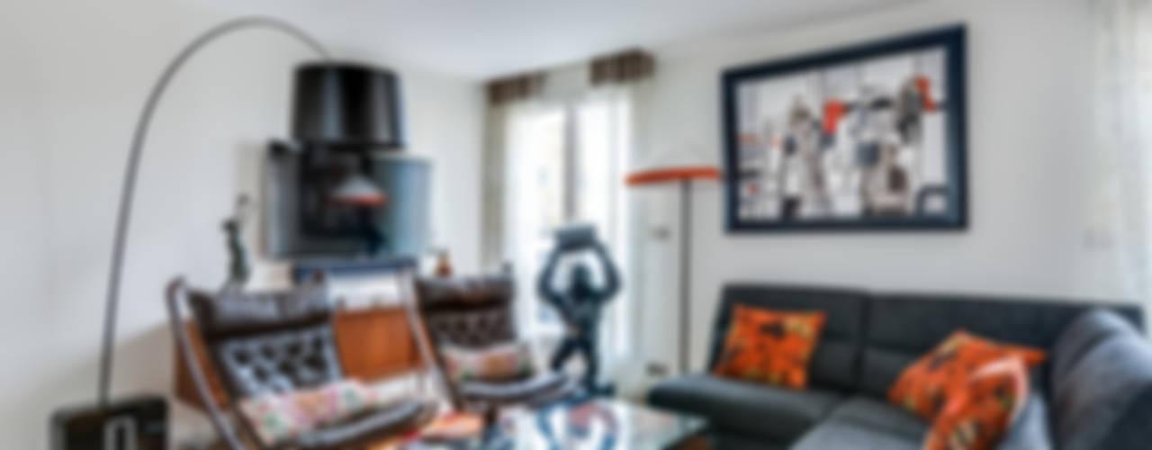 Levallois 110m2 Salon moderne par blackStones Moderne