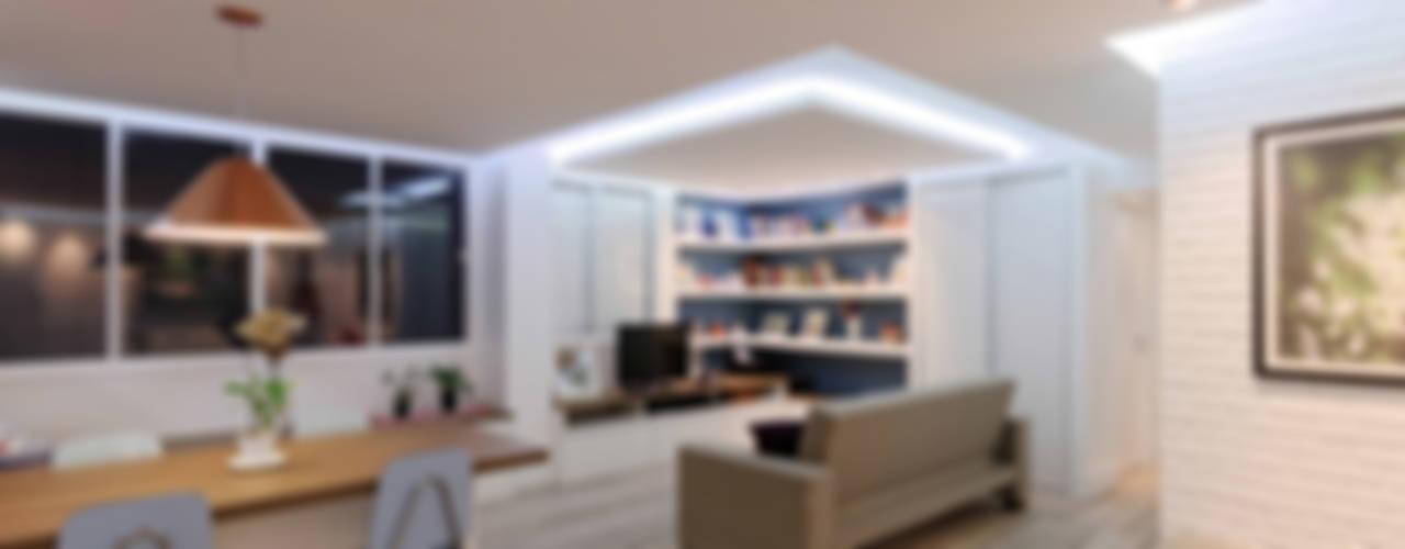 Soggiorno minimalista di Raphael Civille Arquitetura Minimalista