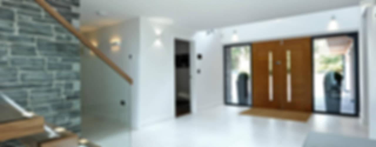 Redwoods, Wimborne, Dorset Modern corridor, hallway & stairs by Jigsaw Interior Architecture Modern