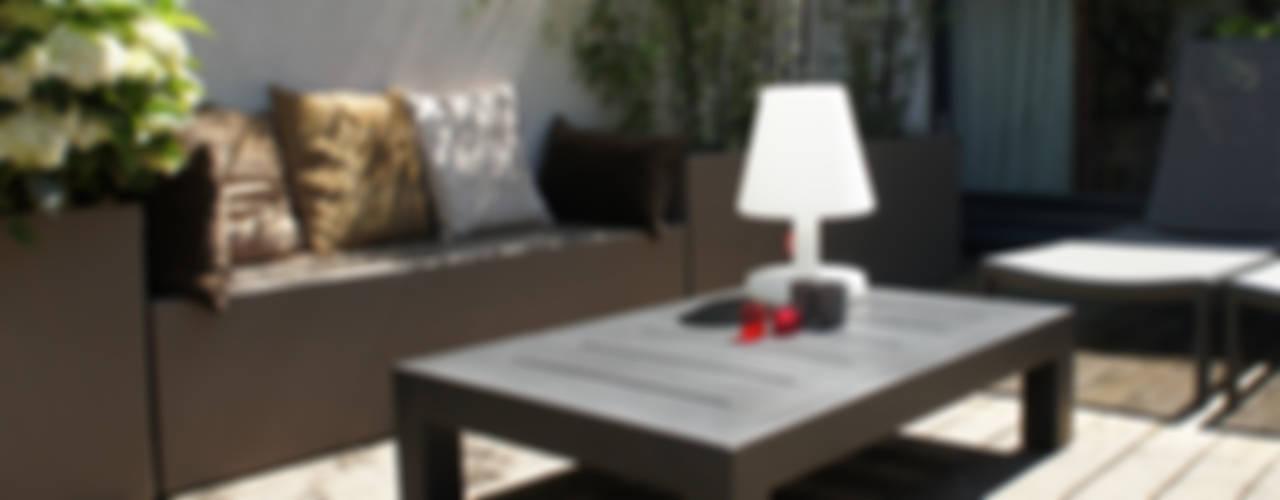 Ambiance Cosy avec les Bacs et Banquette Image'In Jardin moderne par ATELIER SO GREEN Moderne