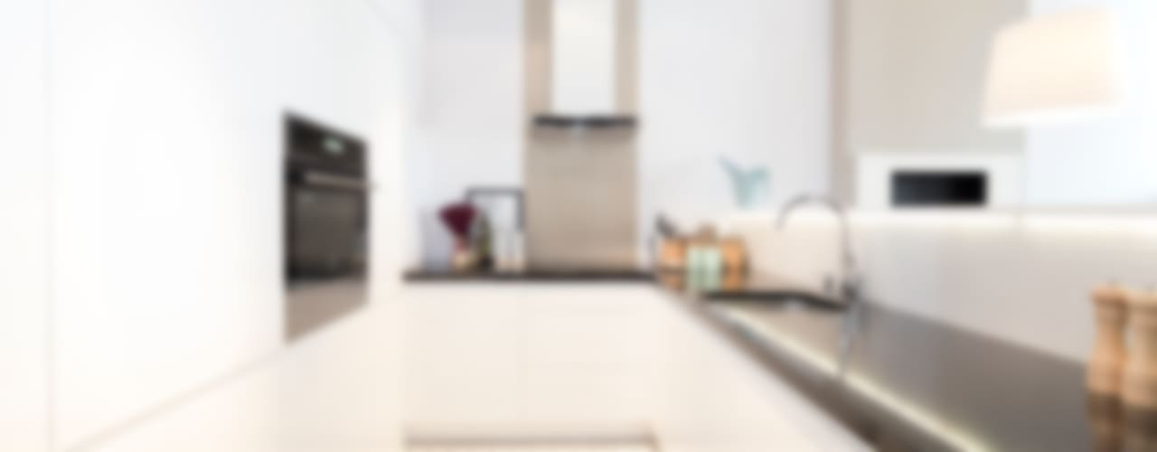 Mieszkanie - Warszawa - 85 m2 Nowoczesna kuchnia od Mprojekt Nowoczesny