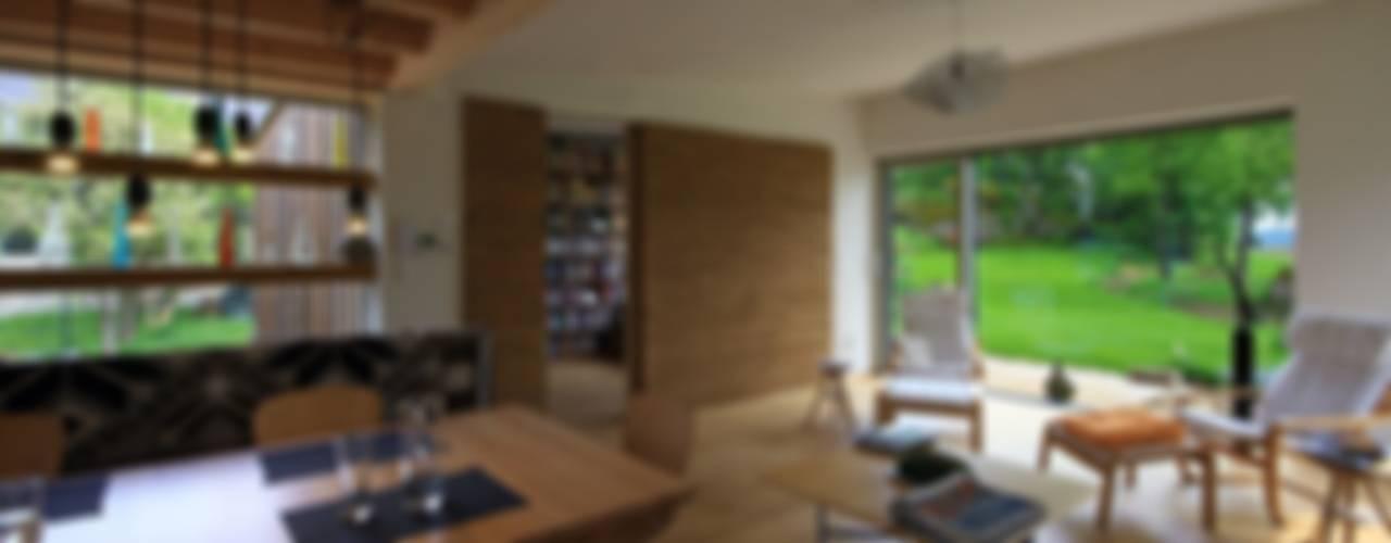 Haus Scheiber Minimalistische Wohnzimmer von zauner I architektur Minimalistisch
