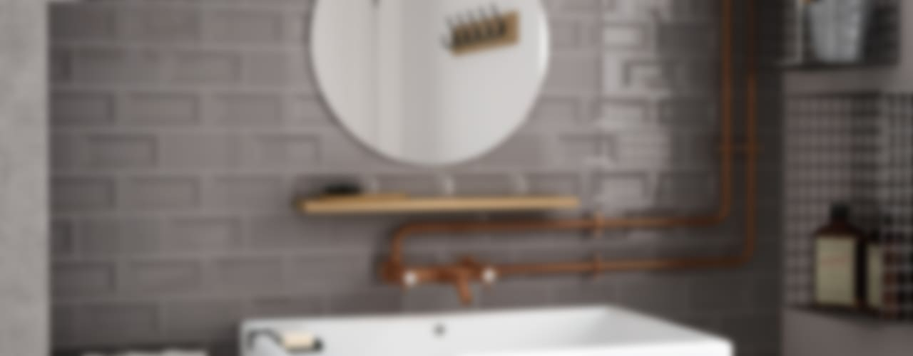 Industrial style bathrooms by Equipe Ceramicas Industrial