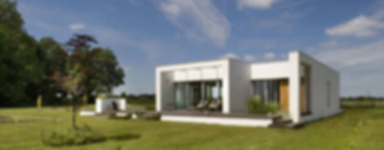 Łęka - Park: styl , w kategorii Domy zaprojektowany przez Architekci Łosiak_Siwiak,Minimalistyczny