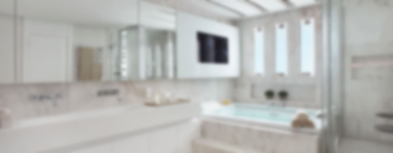 現代浴室設計點子、靈感&圖片 根據 Leila Dionizios Arquitetura e Luminotécnica 現代風