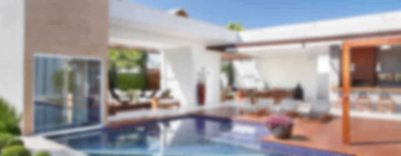 Casas de estilo  por ANGELA MEZA ARQUITETURA & INTERIORES
