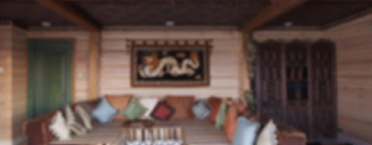 Загородный дом в Конаково Гостиная в азиатском стиле от Trubnikoff Hall Азиатский